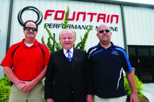 The force behind FPM, Reggie with his two sons, Wyatt (left) and Reggie III (far right).