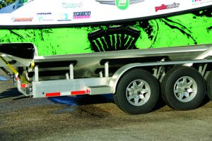 The Fifth Wheel Trailer has a strong aluminum structure offering optimum integrity.