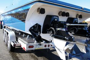 Mercury Racing's Bravo One XR ITS Drives compliment this strong and efficient offshore package.