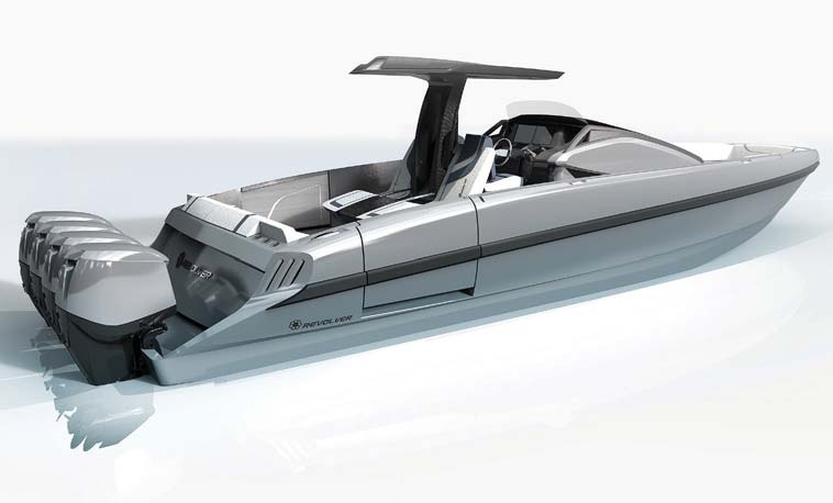 The swept hardtop is built with advanced composites so no additional supports are necessary and the port side entry door facilitates boarding.