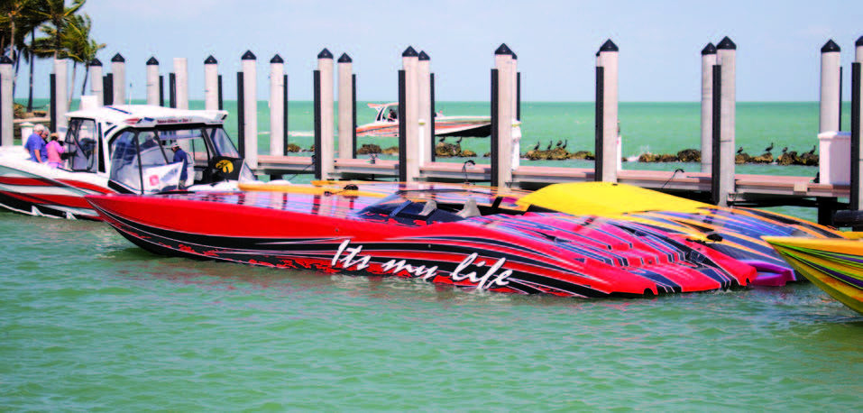 The MTI owners were living the good life at the Faro Blanco Resort.