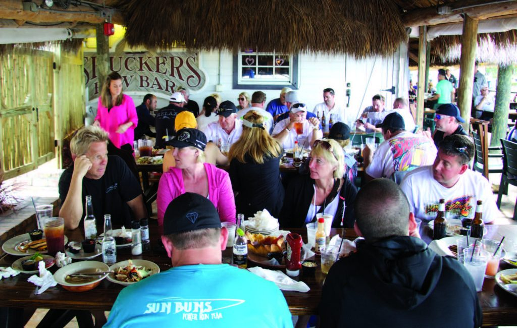 The MTI owners enjoyed good food and good conversation during one of the lunch stops.