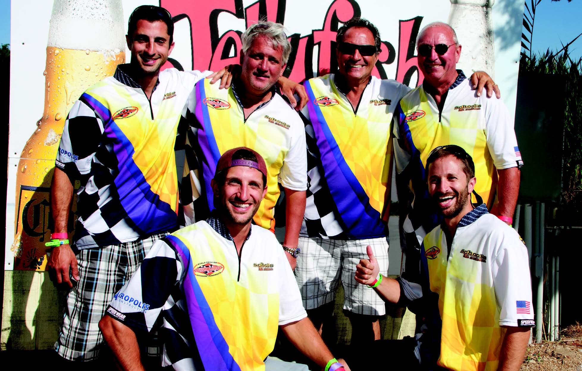 L-R Top Row: Mike Diakoulas, Dave Seibert, John Diakoulas, Dale Lucas. L-R Bottom Row: Brendan Diakoulas, Devin Diakoulas.