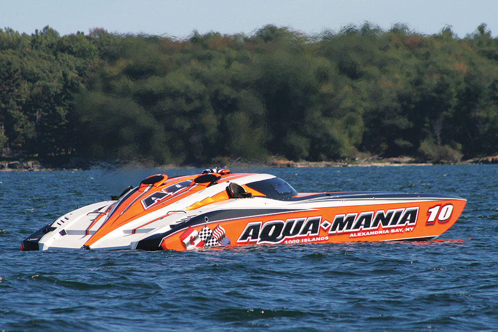 The team hopes their new boat can run from Miami to New York in 10 hours.