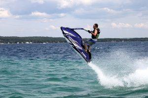 Kevin only rides standup watercraft. No sea couches for him!