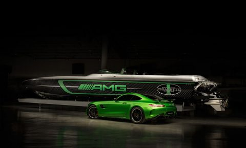 Mercedes-AMG and Cigarette Racing Team celebrate 10 years of collaboration at the Miami International Boat Show
