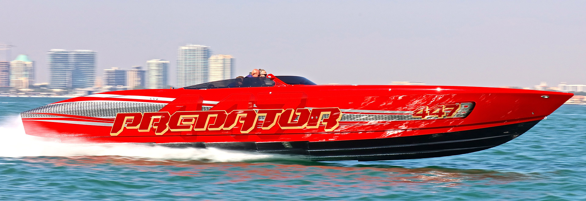 Following the Miami International Boat Show, Robertson Jr., took the 447-R  on the Florida Powerboat Club's Miami Boat Show Poker Run.