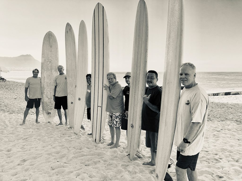 Group photo of surfers