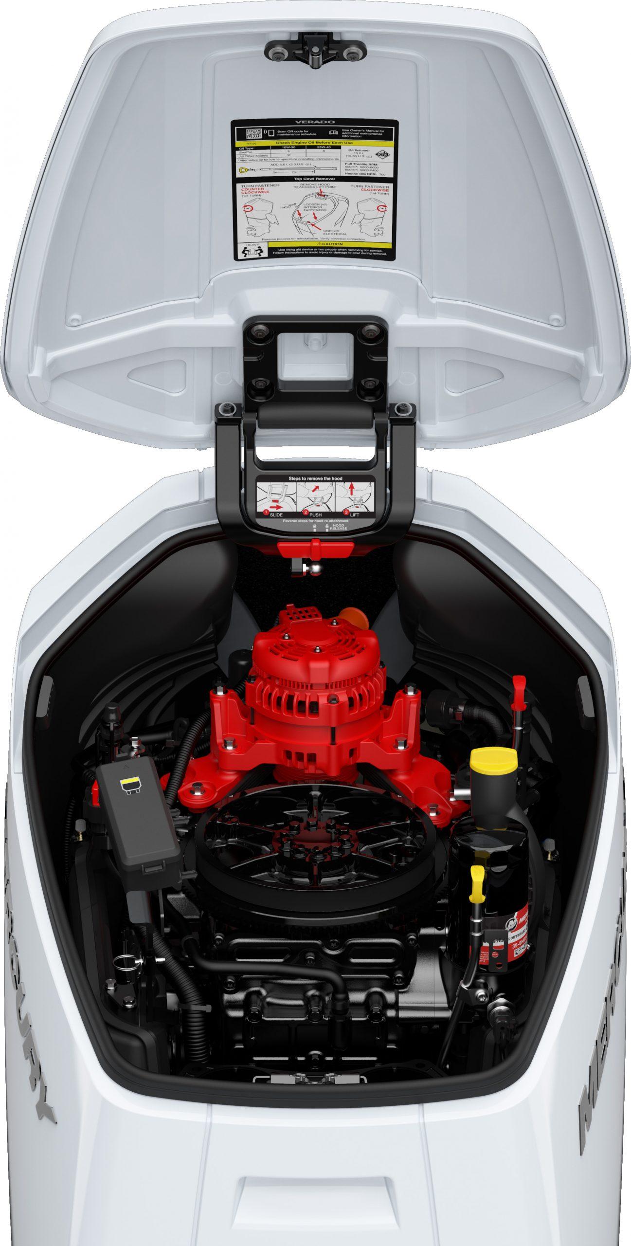 Mercury Verado V12 hood up